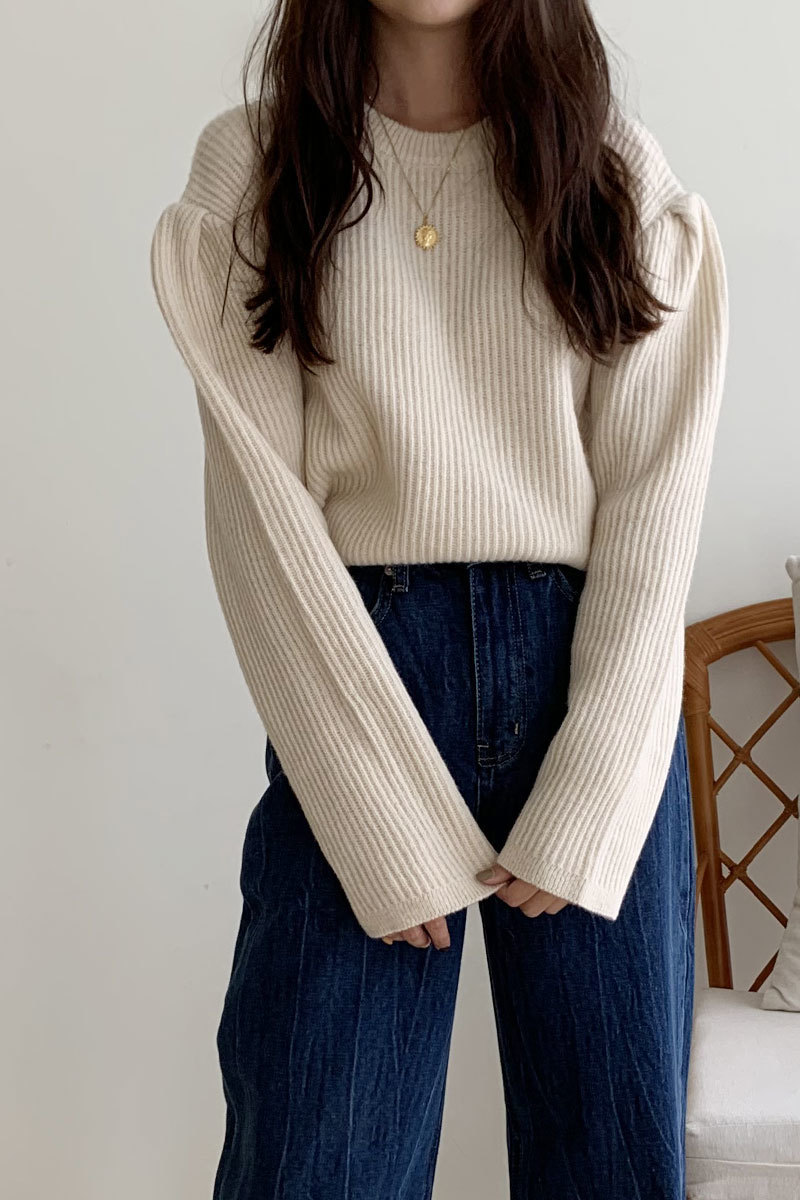Boom Knit  (ivory )